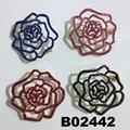 fancy women girls crystal stone rose flower brooches wholesale 5
