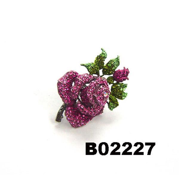 fancy women girls crystal stone rose flower brooches wholesale 6