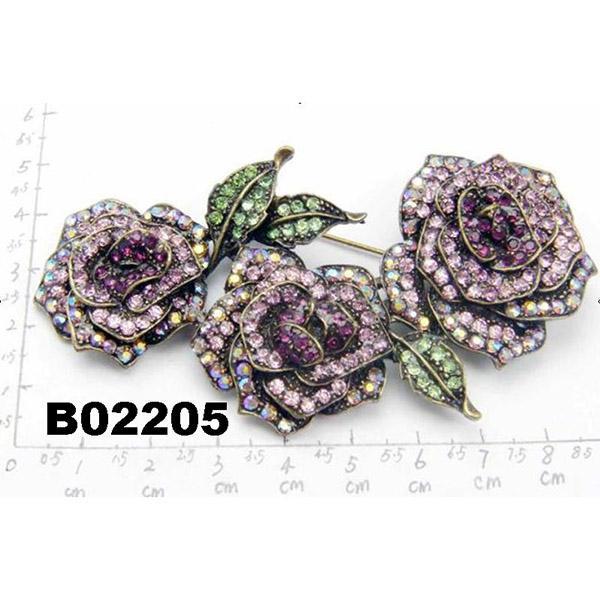 fancy women girls crystal stone rose flower brooches wholesale 7