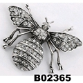 wholesale antique colorful crystal stone dragonfly brooches 4