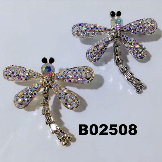 wholesale antique colorful crystal stone dragonfly brooches 6