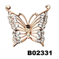wholesale antique colorful crystal stone butterfly brooches 6