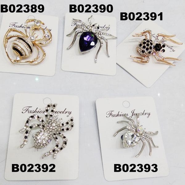 assorted men women crystal stone spider brooch 1