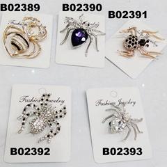 assorted men women crystal stone spider brooch