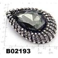 fashion big crystal rhinestone teardrop shaped brooch