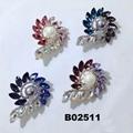 fashion big crystal rhinestone teardrop shaped brooch 3