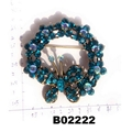 fashion shining crystal stone christmas circle ring brooch 4