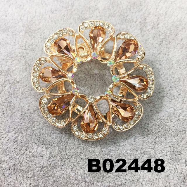 fashion shining crystal stone christmas circle ring brooch 6