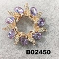 fashion shining crystal stone christmas circle ring brooch 7