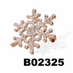 glitter christmas crystal rhinestone stone snowflake brooch