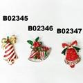 wholesale crystal stone jingle bell christmas brooch