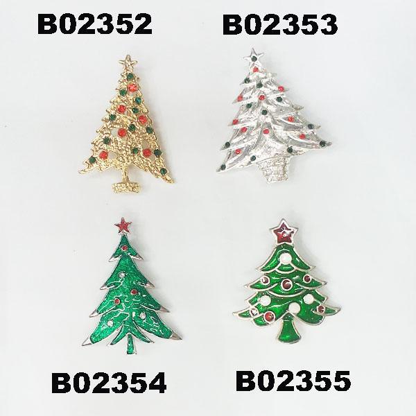 wholesale crystal stone christmas tree christmas brooches 1