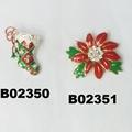 wholesale crystal stone christmas tree christmas brooches 3