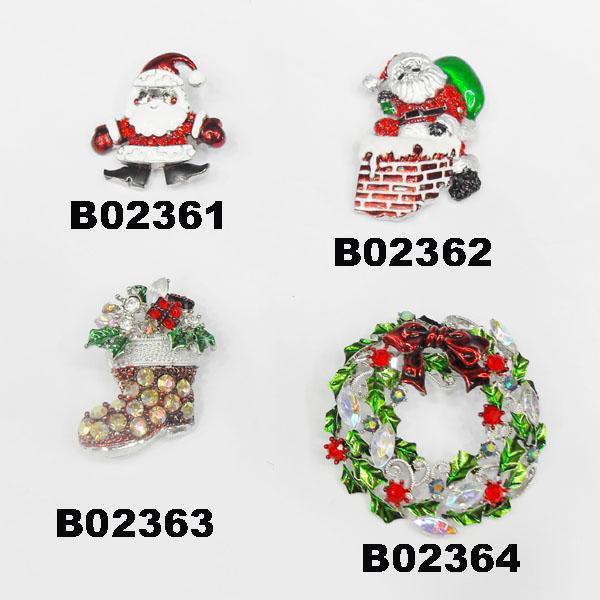 wholesale crystal stone christmas tree christmas brooches 4