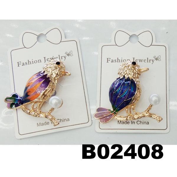 fashion mens women crystal stone animal owl brooch 4