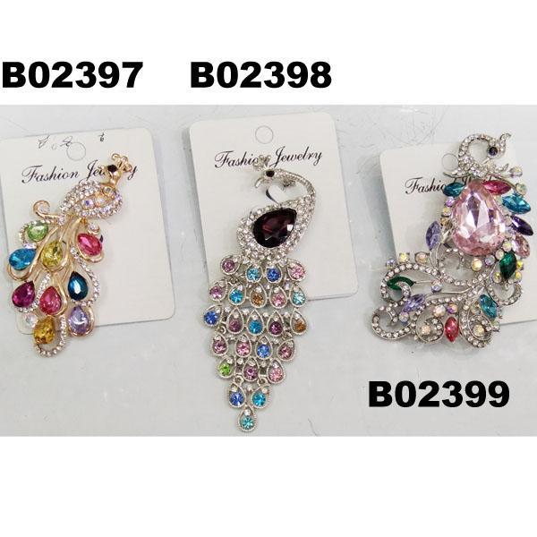 fashion mens women crystal stone animal owl brooch 6