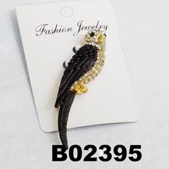 fashion men women crystal stone enamel parrot brooch
