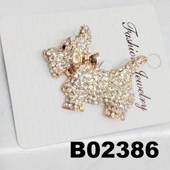 mens women boys girls crystal stone bulldog brooch