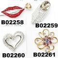 fashion women crystal stone eye brooch 3
