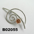 fashion crystal rhinestone stone metal music note brooch pin 2