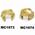 fashion gold silver plated metal cable wire braided cuff bracelets wholesale