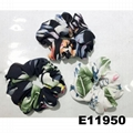 women girls print cloth fabric elastic hair bands wholesale 1
