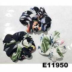 women girls print cloth fabric elastic hair bands wholesale