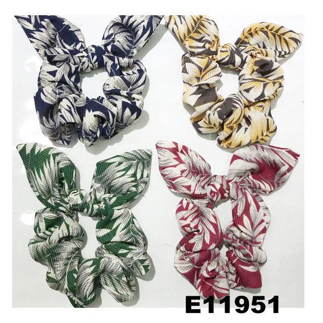 women girls print cloth fabric elastic hair bands wholesale 2