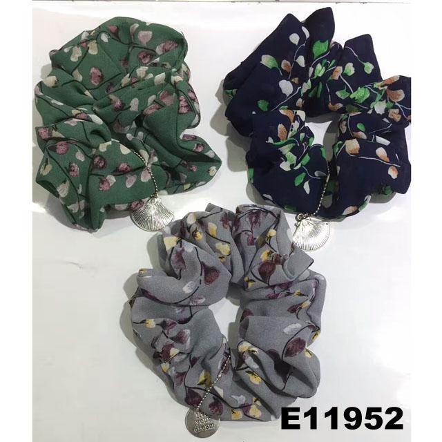 women girls print cloth fabric elastic hair bands wholesale 3