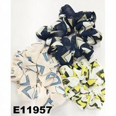 women girls print chiffon fabric elastic hair ties wholesale