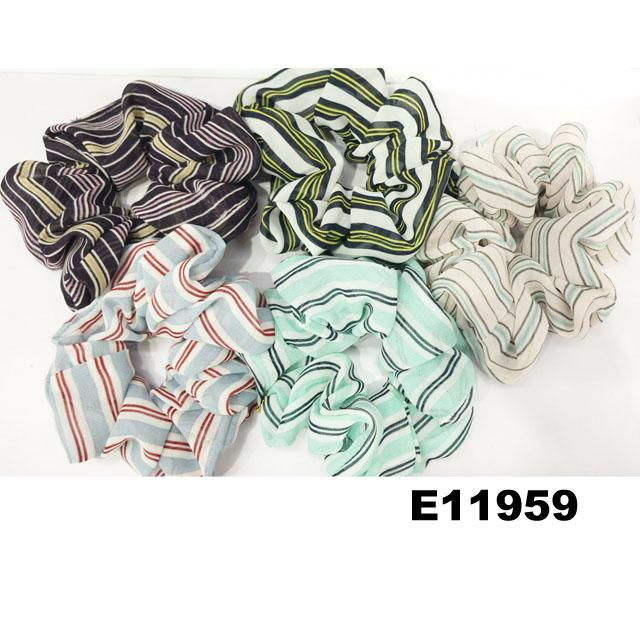 women girls print chiffon fabric elastic hair ties wholesale 2