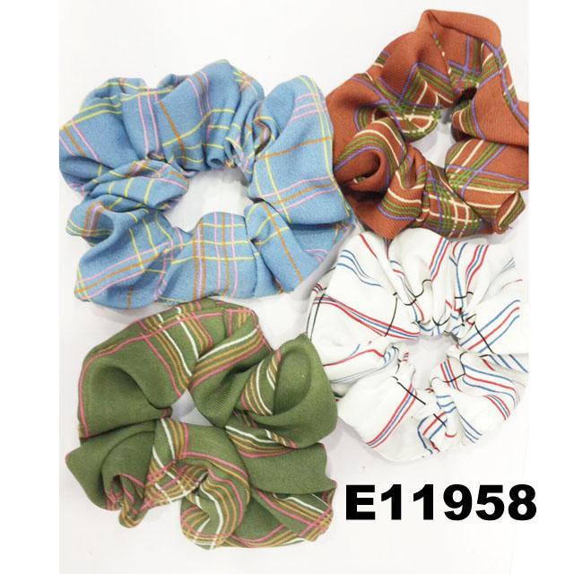 women girls print chiffon fabric elastic hair ties wholesale 3