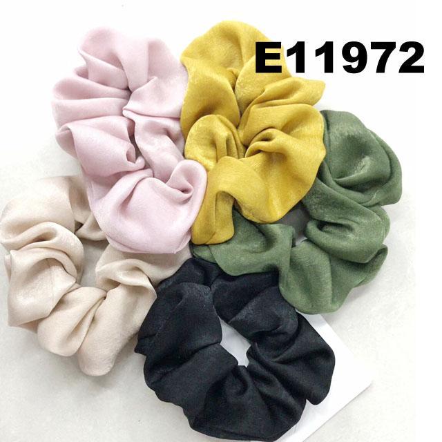 women girls print chiffon fabric elastic hair ties wholesale 4