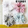 women girls print chiffon fabric elastic hair ties wholesale 6