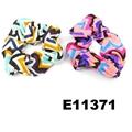 women girls print chiffon fabric elastic hair ties wholesale 7