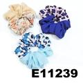 women girls print chiffon fabric elastic hair ties wholesale 8