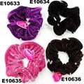 fashion women crystal stone ve  et hair tie 3