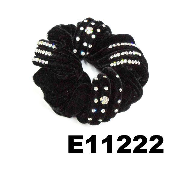 fashion women crystal stone ve  et hair tie 11