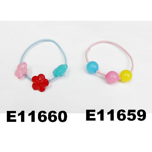 baby girls kids plastic crystal ball elastic hair ties wholesale 1