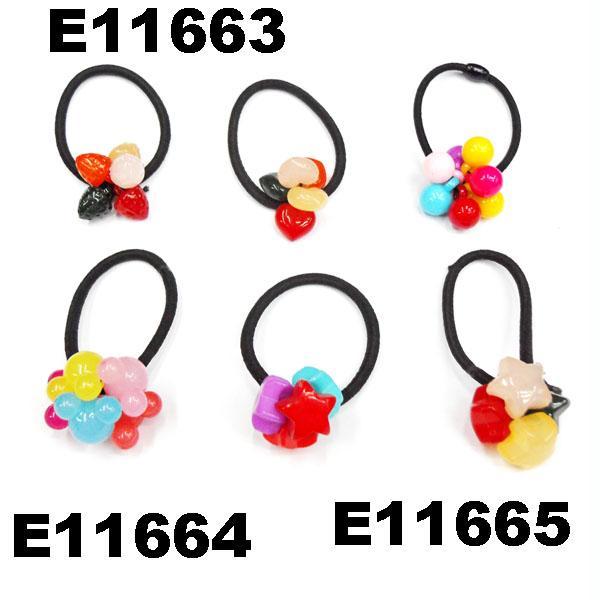 baby girls kids plastic crystal ball elastic hair ties wholesale 5