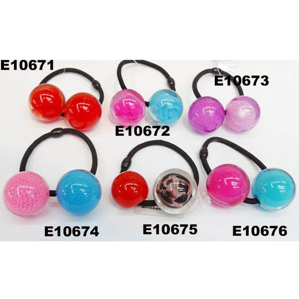 baby girls kids plastic crystal ball elastic hair ties wholesale 7