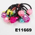 baby girls kids plastic crystal ball elastic hair ties wholesale 8