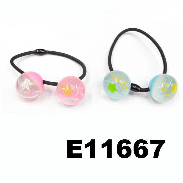 baby girls kids plastic crystal ball elastic hair ties wholesale 9