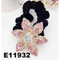 fashion women crystal stone flower velvet elastic hair bands wholesale