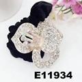 fashion women crystal stone flower ve  et elastic hair bands wholesale 3