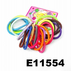 daily use silicon rubber elastic hair bands wholesale