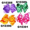 school girls kids big beautiful print hair ribbon bow 3
