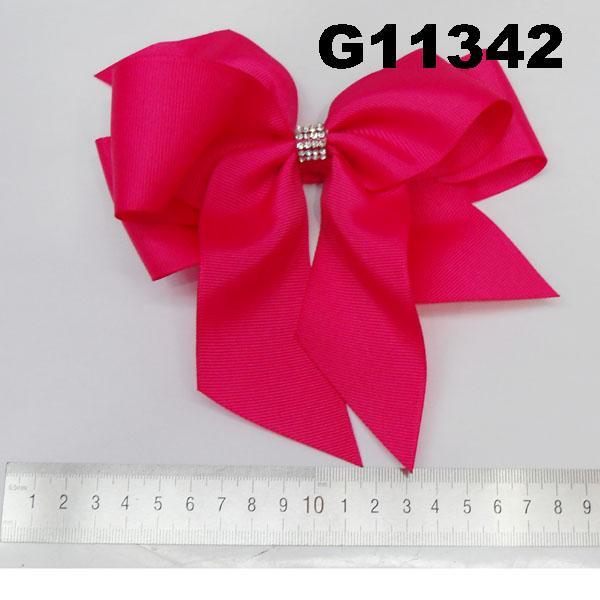 school girls kids big beautiful print hair ribbon bow 7