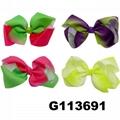 school girls kids big beautiful print hair ribbon bow 13