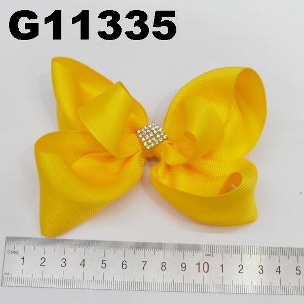 school girls kids large crystal stone ribbon hair bows wholesale 3
